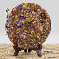 Flower tea cake
