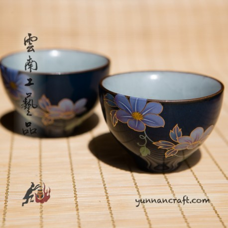 50ml Cup - Butterfly & Flower - 2pc.