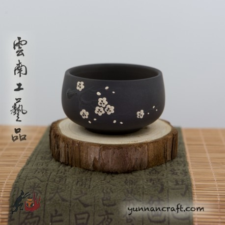 Чашка Цзы Тао Белые Цветки - 70мл