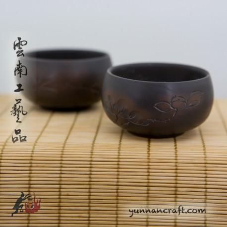 Zitao Cup - 2pc. Lotus & Bamboo 65ml