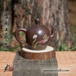 Цзы Тао чайник - Лотос ( 茶 ) - 95мл