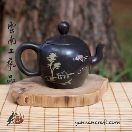 Цзы Тао чайник - Пагода и Дерево (Фу) - 100мл