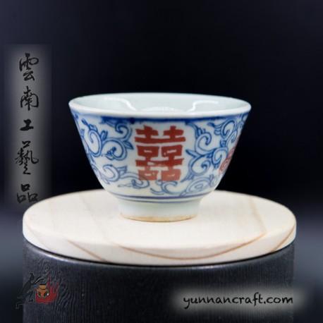 50мл чашка - двойное счастье (красный)