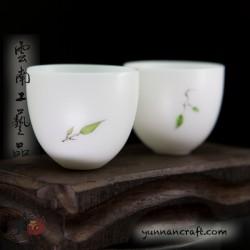 30мл Дэ Хуа фарфоровые чашки - 2шт.