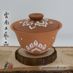 140ml Dai Tao Gaiwan - Lotus ( red )