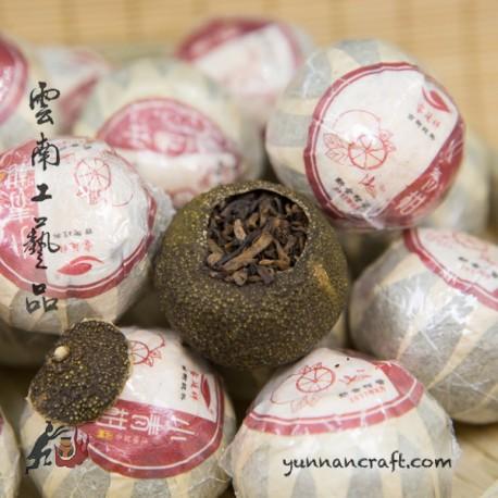 2017 Shu Pu-erh in tangerine - small