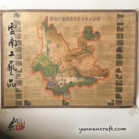 Yunnan Tea Mountains Map