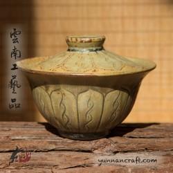 150ml Dai Tao Gaiwan - Lotus ( ash glazed )
