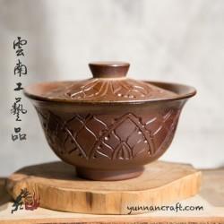140ml Dai Tao Gaiwan ( wood fired ) - Lotus