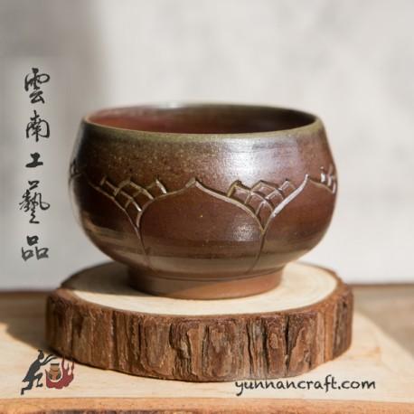95ml Dai Tao Cup ( wood fired ) - Lotus
