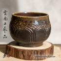 110ml Dai Tao Cup ( wood fired & ash ) - Lotus