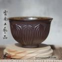 150ml Dai Tao Cha Wan ( ash glazed ) - Lotus