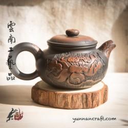 Zitao Teapot - Fang Gu ( Lotus & Fish ) - 135ml